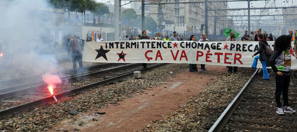 Movilizaciones en Francia, junio 2014.