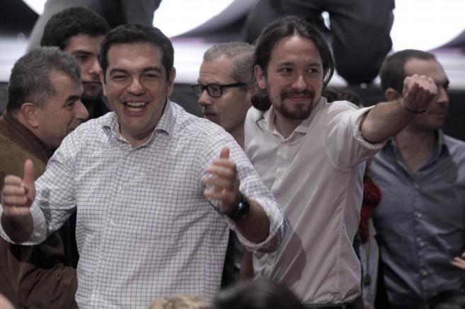Tsipras e Iglesias.