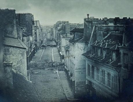 Barricadas en la rue Saint-Maur, 25 de junio 1848.