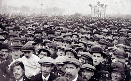 Manifestación obrera, Chicago 1886.