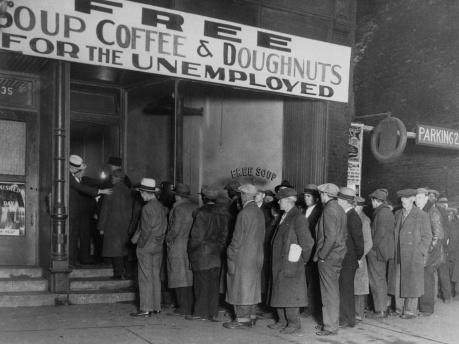 Parados durante la Gran Depresión.