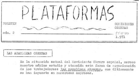 Boletín de las Plataformas de CC.OO.