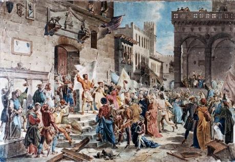 El Tumulto de los Ciompi, Giuseppe Lorenzo Gatteri.