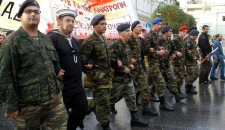Manifiesto de los reclutas griegos.