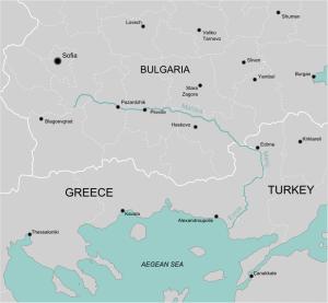 Río Evros o Maritsa, que marca la frontera entre Grecia y Turquía.